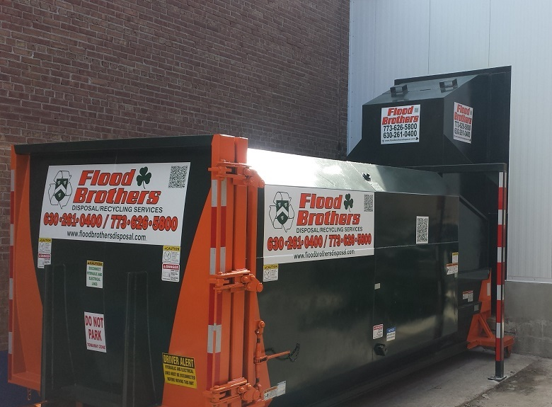 Flood Brothers Custom Compactor and Dumpster